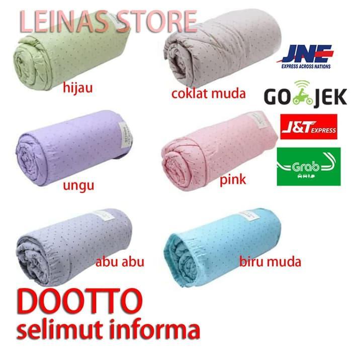 selimut / bedcover microfiber informa 100% microfiber - hijau