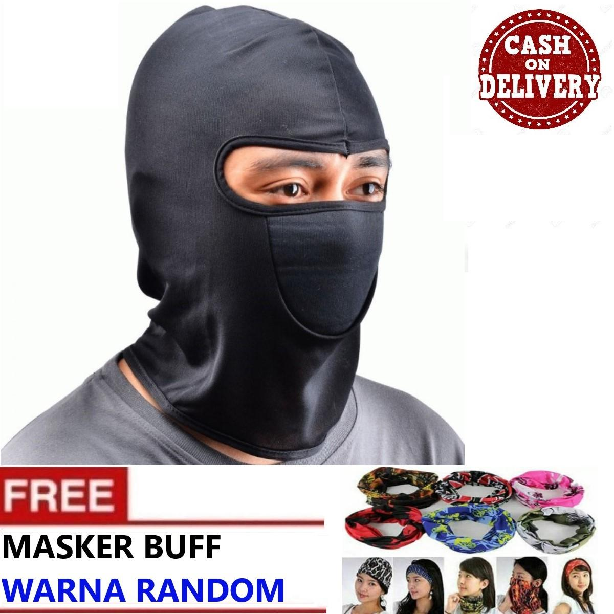 Masker Balaclava Ninja Motor + FREE Masker Bandana Serbaguna - 5 STAR