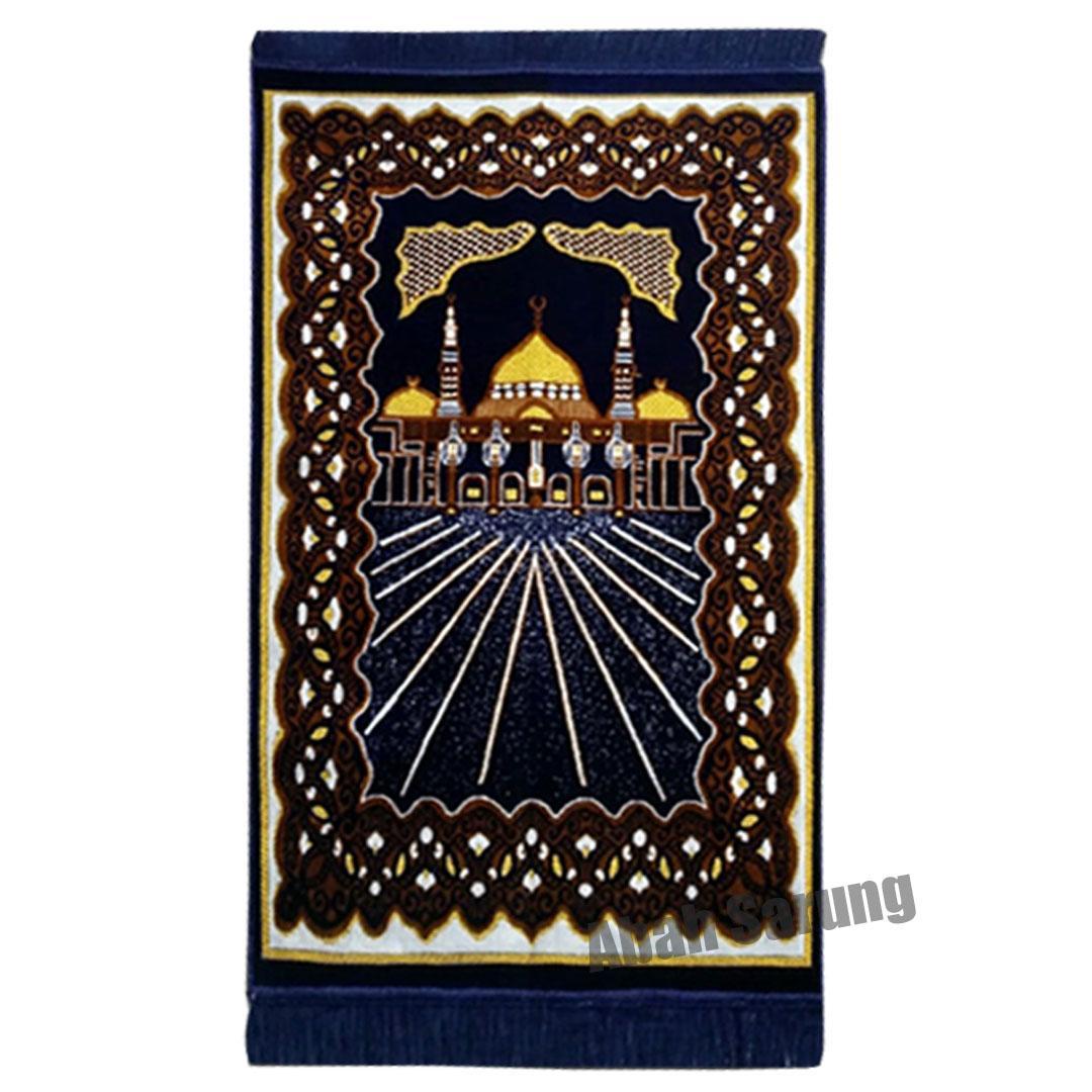 Sajadah Kano Gold Tebal, Bulu Halus dan lembut, Oleh Oleh Haji dan Umroh Made in Turkey (SKG001) Abah Sarung