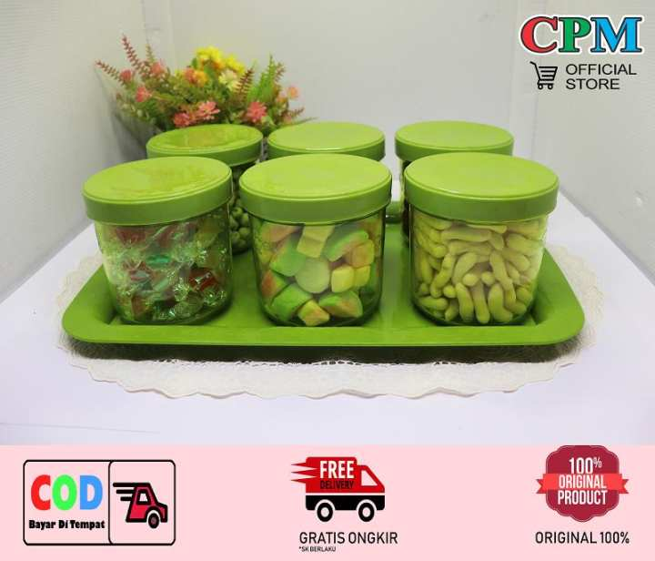 CPM Belagio Food Storage Set of 7 pcs Green / toples