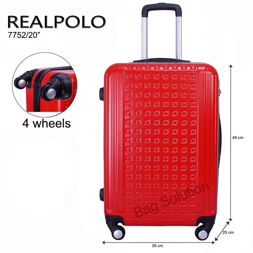Real Polo Tas Koper Hardcase Fiber ABS - 4 Roda Putar - GGEA Size 20 Inch