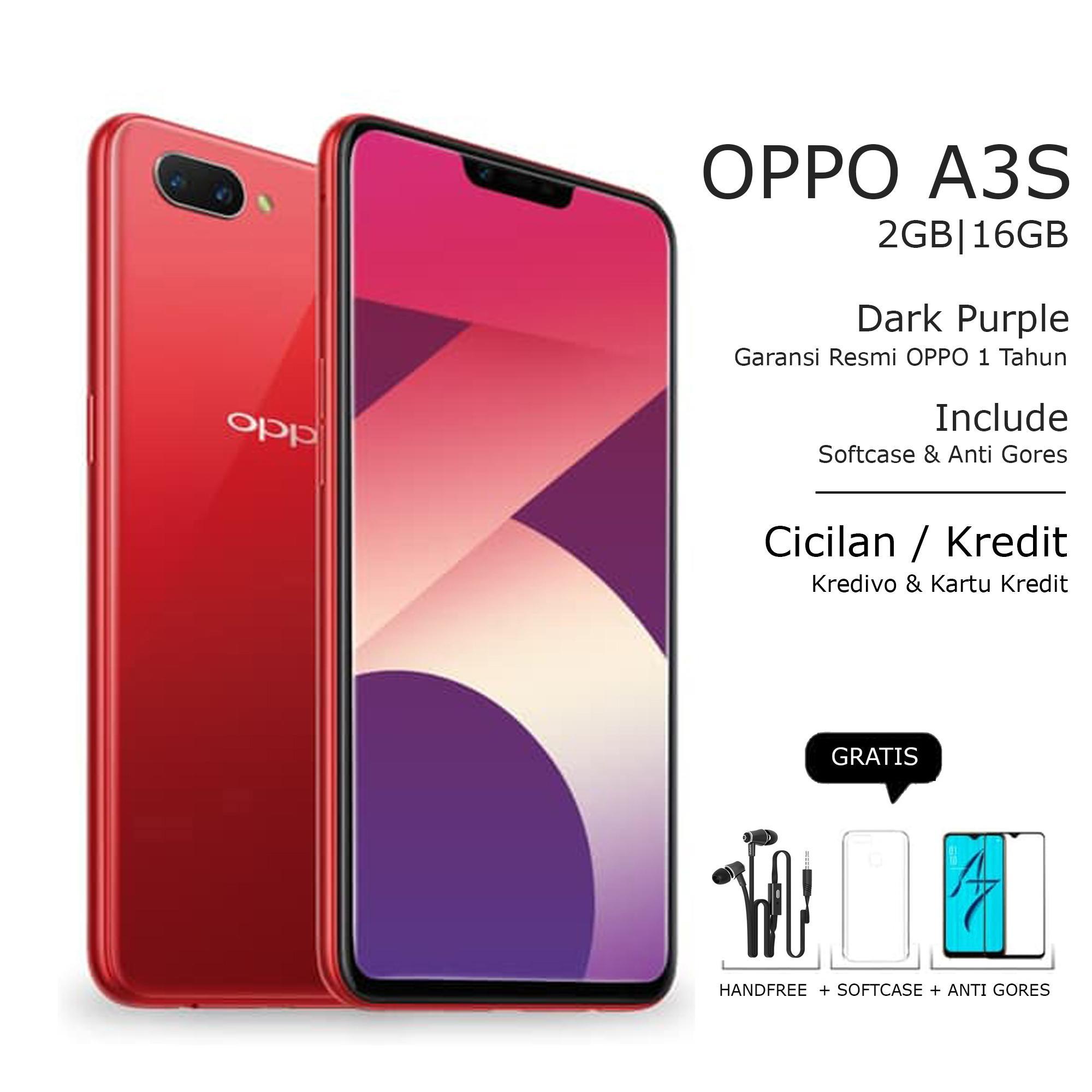 OPPO A3S 2/16GB - 4G LTE - LAYAR 6.2 INCH - GARANSI RESMI