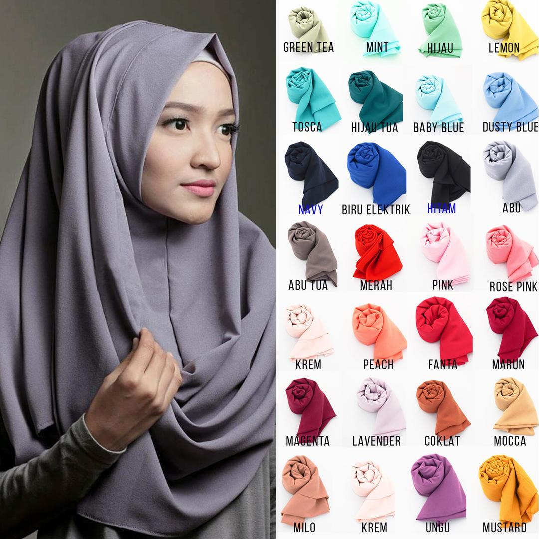 Pashmina Instan Kerudung Instan - Jilbab Instan - Kerudung Hijab Khimar Instan Pastan Oshi