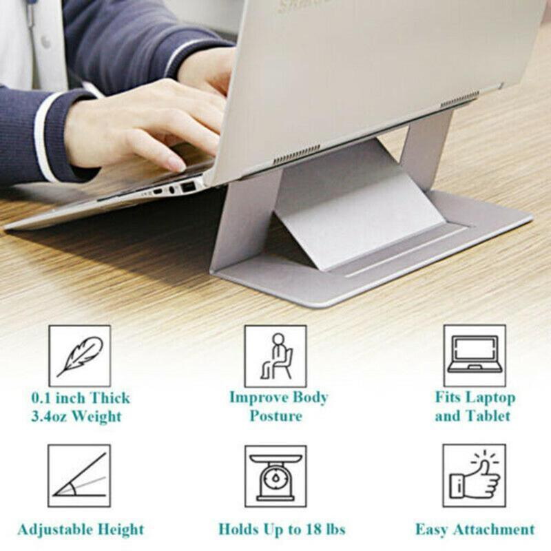 New Adjustable Invisible Portable Folding Laptop Stand J6V0