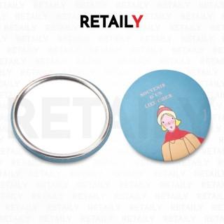 Retaily Cermin Kaca Bulat Kecil Dandan Kartun Make Up HR210 thumbnail