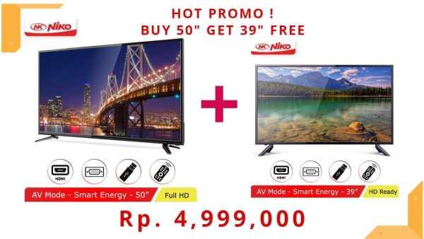 HOT PROMO!! BUY LED TV NIKO 50 OMEGA FREE LED TV NIKO 39 BETA