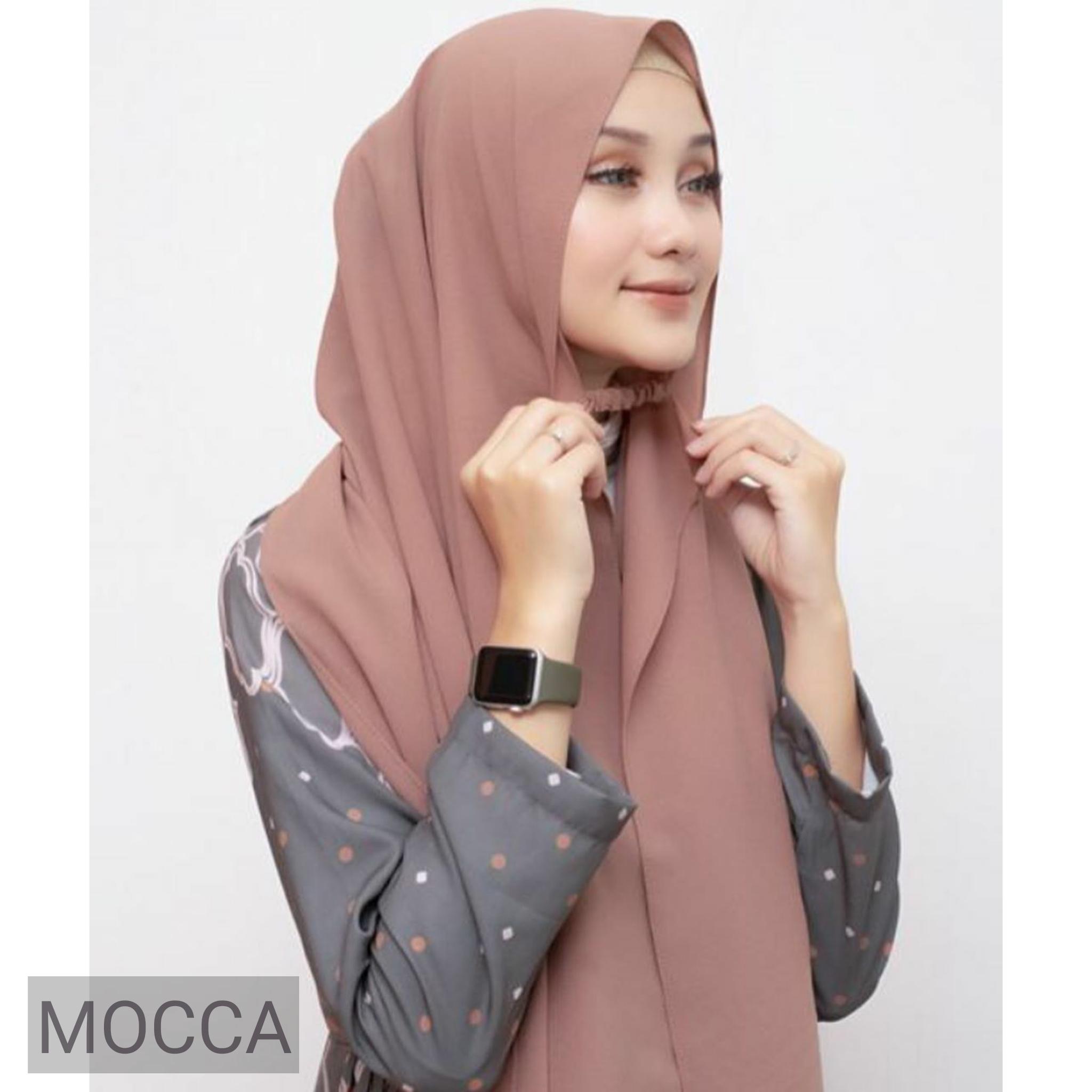 PROMO Jilbab / Hijab Pashmina KARET Instan Diamond Jumbo - Pasmina Kerudung Instan Tali Jumbo
