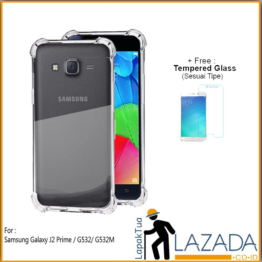 Lapak Case - Softcase Anti Crack Silikon Casing Anticrack Anti Bentur Terbaik Untuk Samsung Galaxy J2 Prime / G532 / G532M / J2 Ace Free Tempered Glass