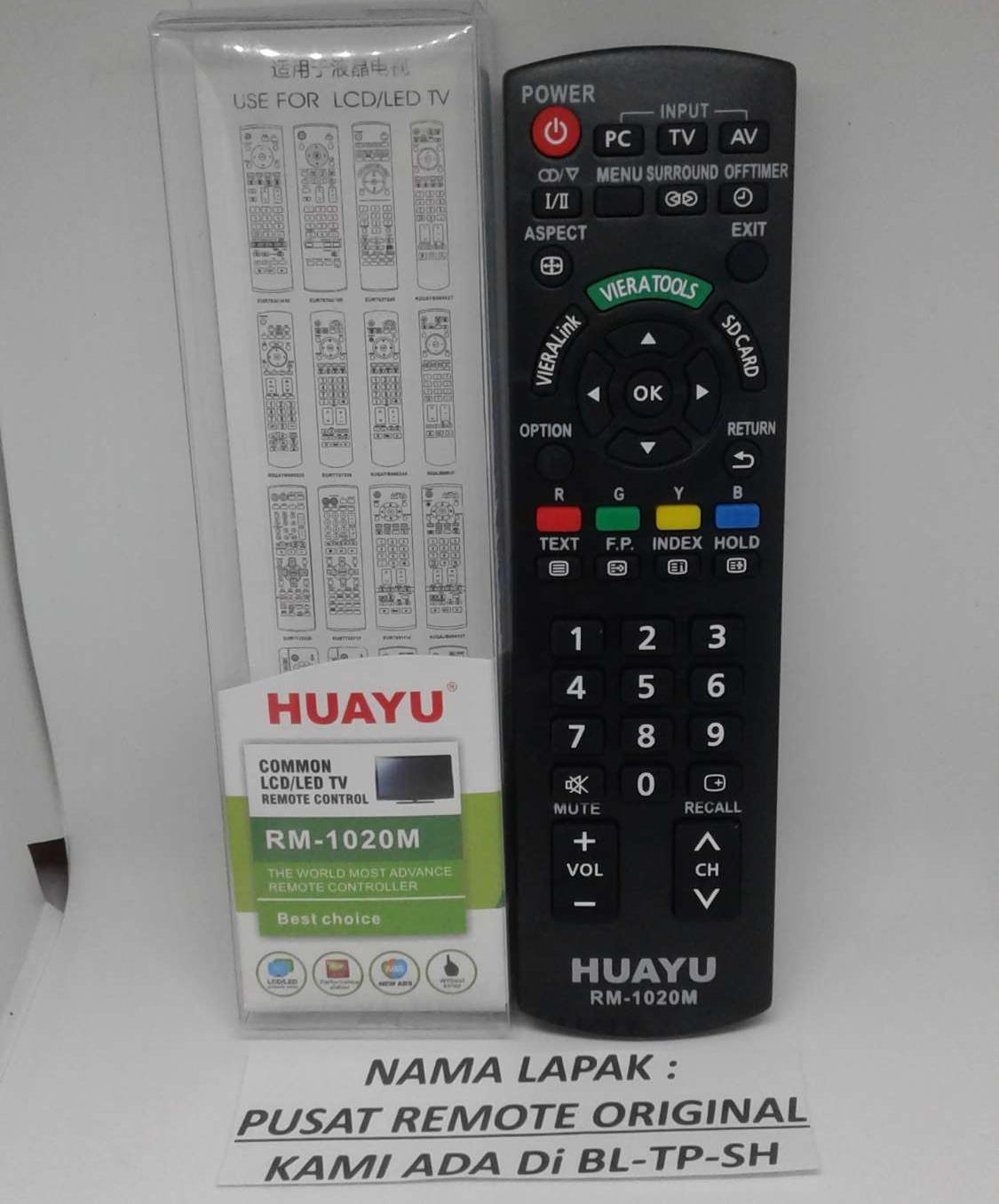 REMOTE REMOT TV PANASONIC LED LCD
