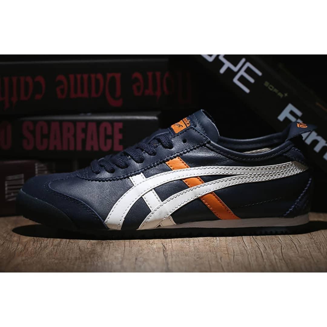 Sepatu Sneakers Tiger mexico 66 Navy Kombinasi 018a06235d