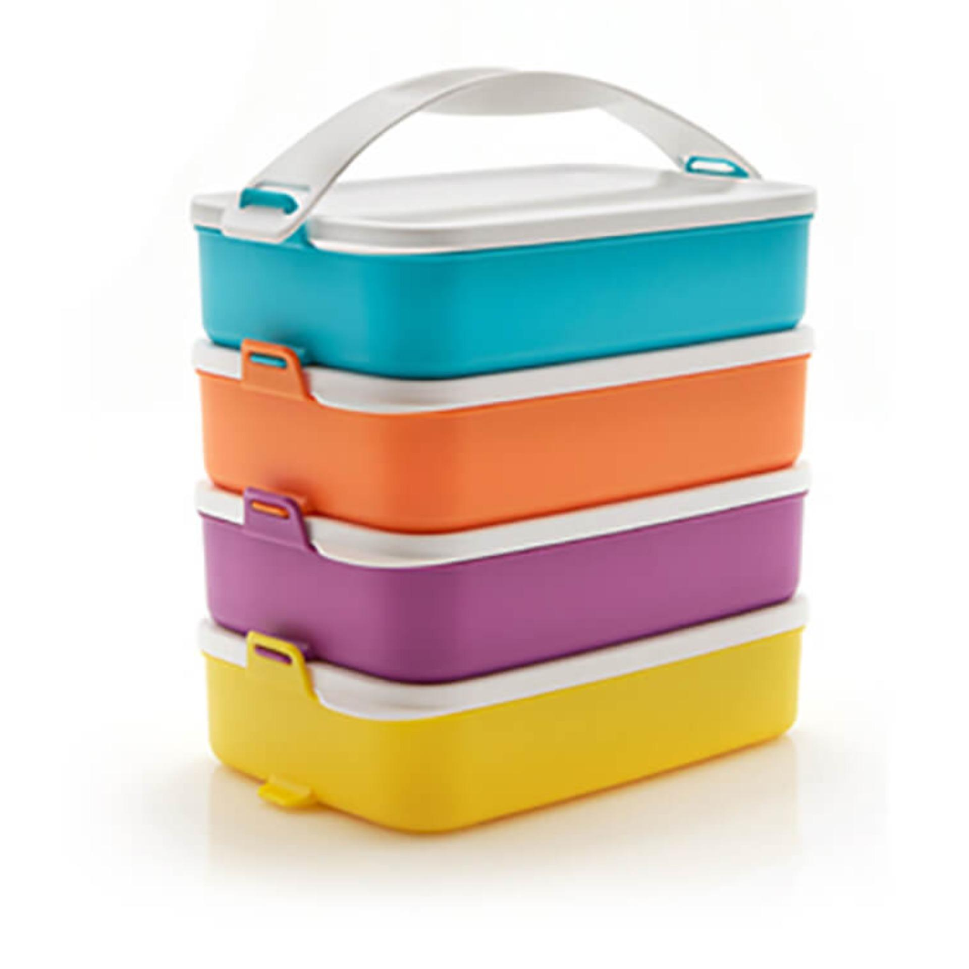 Tupperware Click To Go New Color 2017 - 4 susun rantang makan inovatif Free Ongkir Sampai Bali