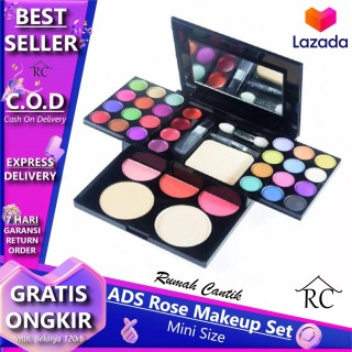 ADS ROSES Make Up Set Pallete Lengkap 1 Pack RUMAH CANTIK Bisa COD Bayar di Tempat Eyeshadow Makeup Pallate MakeUp Kit Lengkap Komplit Lipstik Bedak Powder Fashion Colours 42 warna thumbnail