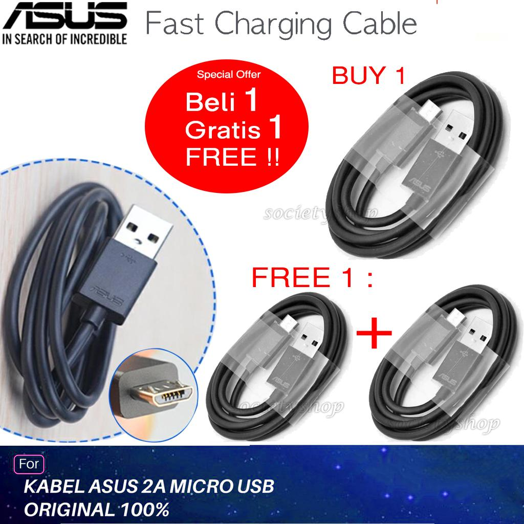 Promo Bundle 2 Kabel Data Charger Asus Zenfone Selfie Laser Go 2 4 5 6 Cable Data ORI For Series Micro Usb