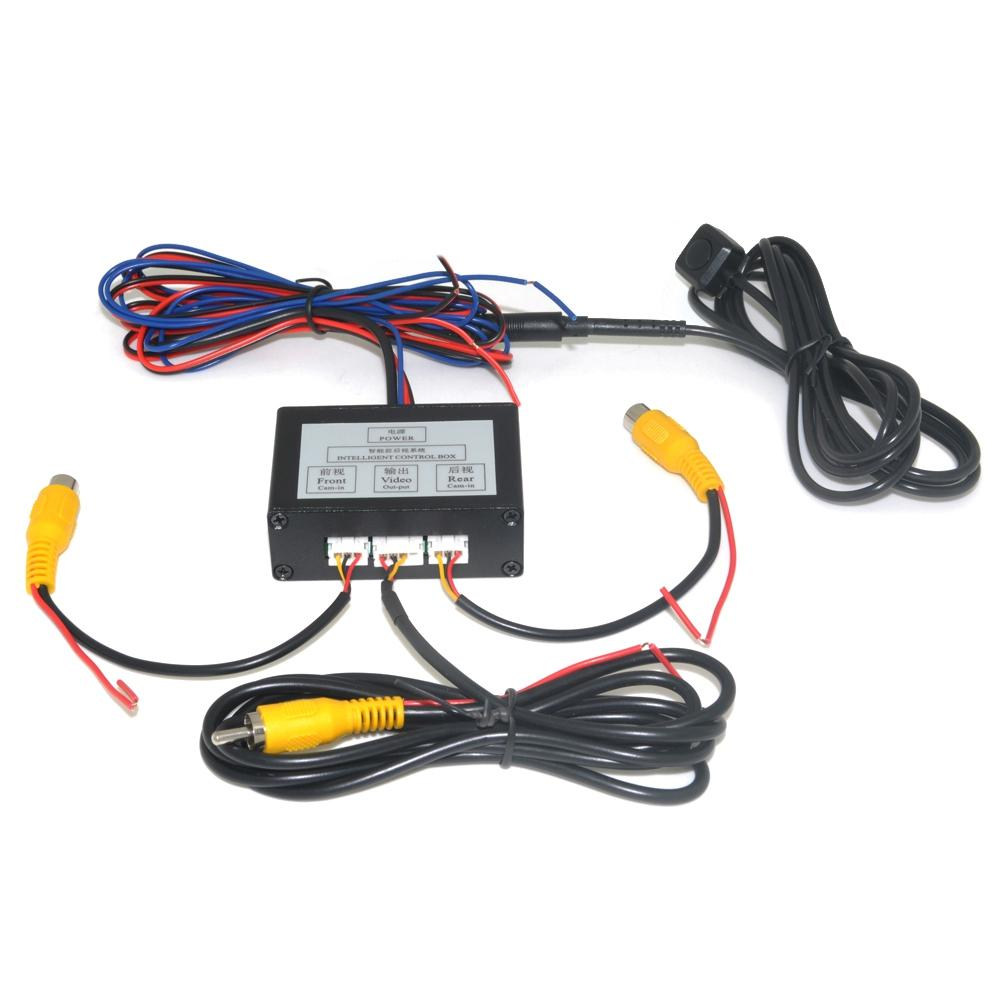 Car Parking Camera Video Channel Converter Auto Switch Front /view Side/rearview Rear View Camera Video Control Box With Manual By Benefitwen.