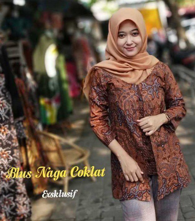 Blouse Batik Atasan Batik Wanita BC003