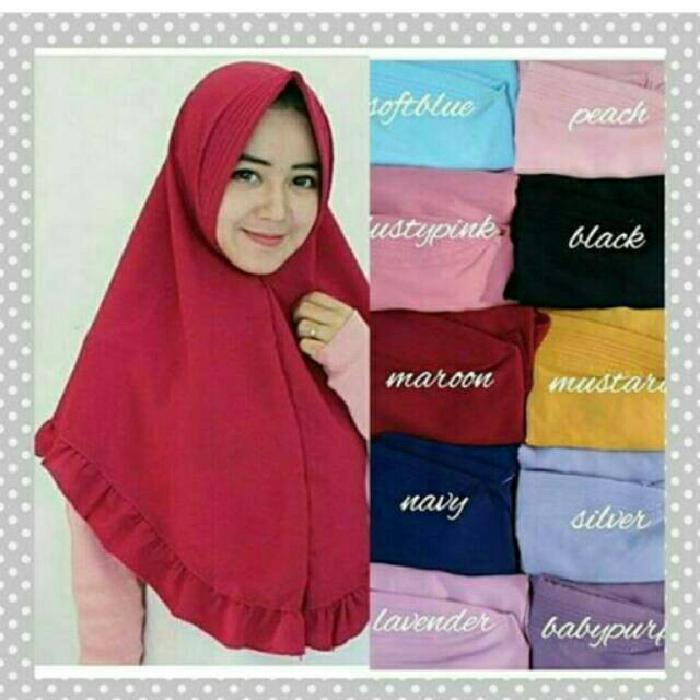 Hijab Instan Pet Simple/jilbab syari/dalaman jilbab/jilbab/kerudung instan/Bahan Jersey