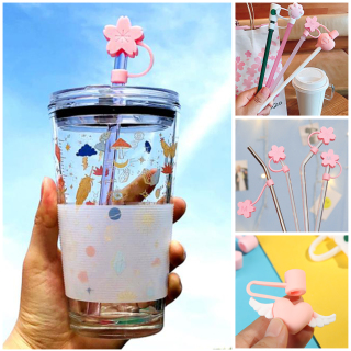 REMAINS PREDECESSOR25OR5 1pcs Cute Airtight Straw Tips Splash Proof Cartoon Plugs Cover Silicone Straw Plug Cup Accessories Drinking Dust Cap thumbnail