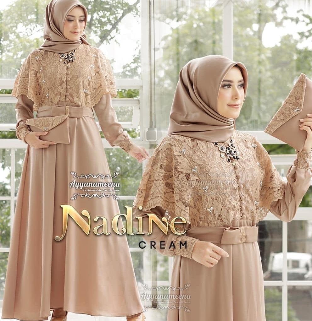 Nadine Dress Brukat Free Belt Dress Gamis Wanita Gamis Wanita Terbaru 2020 Brokat Gamis Brokat Gamis Brokat Wanita Gamis Syari Gamis Syari Set