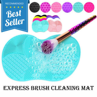 Rinse Pembersih Kuas Make Up Silicone Pad Cleaning Brush Cleaner Tool With Suction Cup Silikon Mat Design Portable Portabel Aksesoris Makeup Cosmetic Beauty Make Up Accessories Fleksibel Bersih Efektif s4424 - Hijau thumbnail
