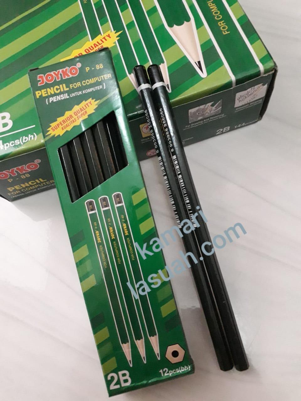 Joyko Pencil For Computer 2B P-88 [ 1 pak/12 pcs] Pensil Untuk Komputer