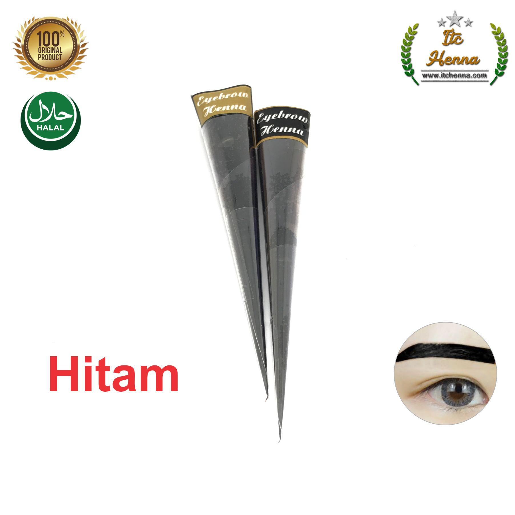 Henna Alis Warna Coklat Dan Hitam Ecer 1 Cone By Itc Henna.