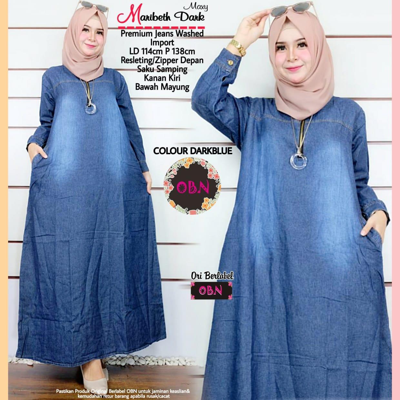maribeth maxy - pakaian wanita - fashion wanita - dress wanita - baju muslim wanita - pakaian bahan jeans
