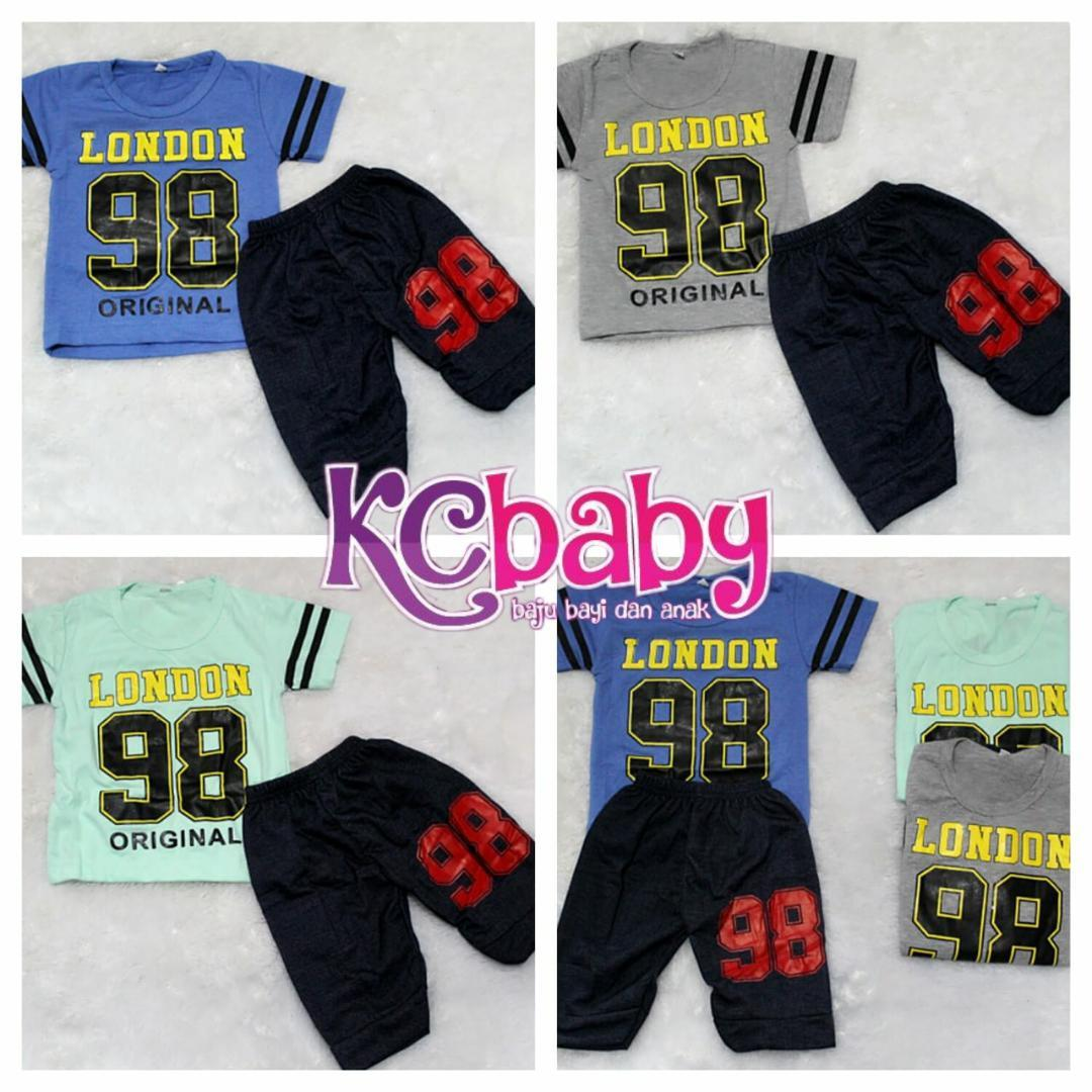 KC Baby - [ CUCI GUDANG - STOCK TERBATAS ] Baju Setelan Anak Laki-Laki Usia 6 Bulan - 5 Tahun / Setelan Baju Anak / Baju Anak / Kaos Anak / Motif 98 London