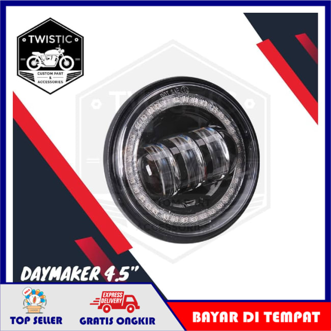 Daymaker 4.5 inch Halo Fog Lampu LED Motor Honda C70 C50 C90 Vespa