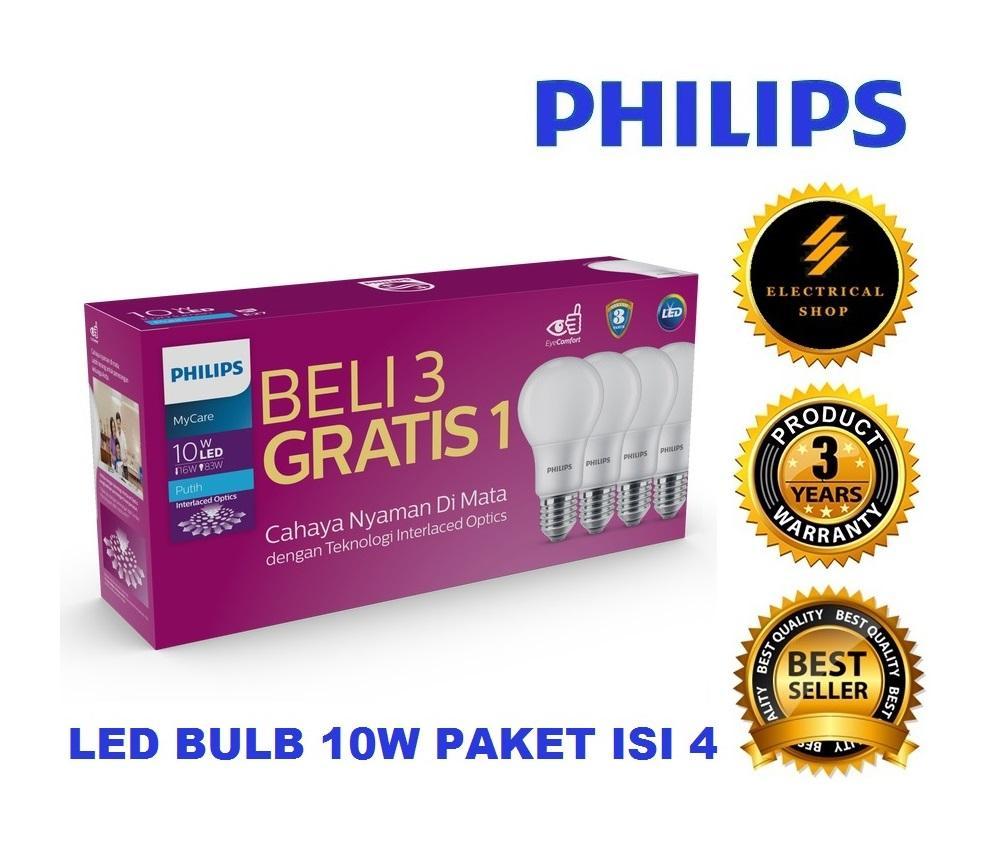 PHILIPS LAMPU LED BULB MULTIPACK MYCARE 10W / 10 WATT PUTIH (BERGARANSI 3 TAHUN)
