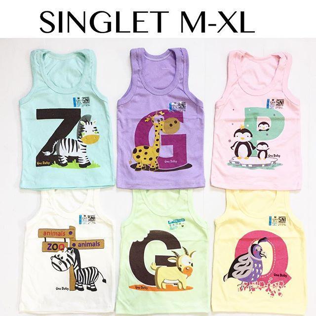 Kaos Singlet Anak Size M L Xl Babeebabyshop By Babee Baby Shop.