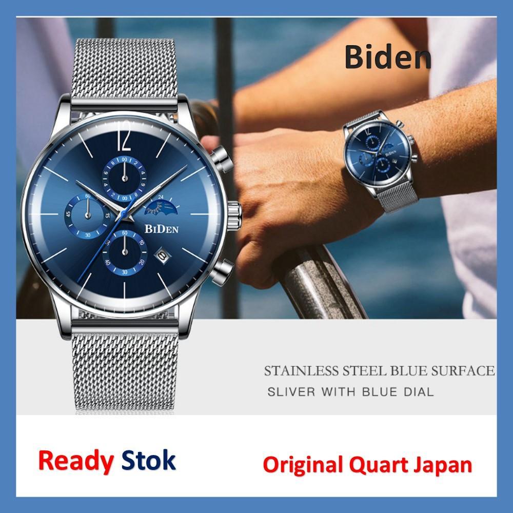 jam tangan pria Biden fashion analog bisnis tali karet brand new 2019 / jam tangan analog pria mewah original anti air / jam tangan pria terbaru / jam tangan pria import terbaru / jam tangan pria kasual / jam tangan pria wanita kualitas jepang