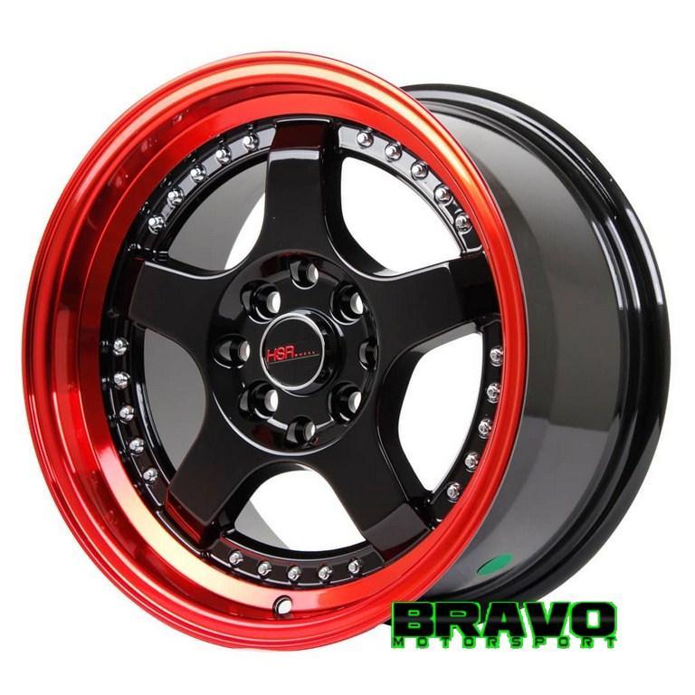 Velg Mobil Ring 15 HSRSC-02 RED Celong Honda Jazz Yaris Mazda2 Vios Avanza Xenia Livina