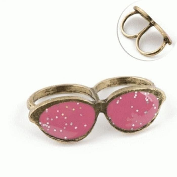 Hot Promo Cincin Double Ring Aksesoris Kacamata Korea Fashion Import Sunglasses By Mardiyah Fashion Store.