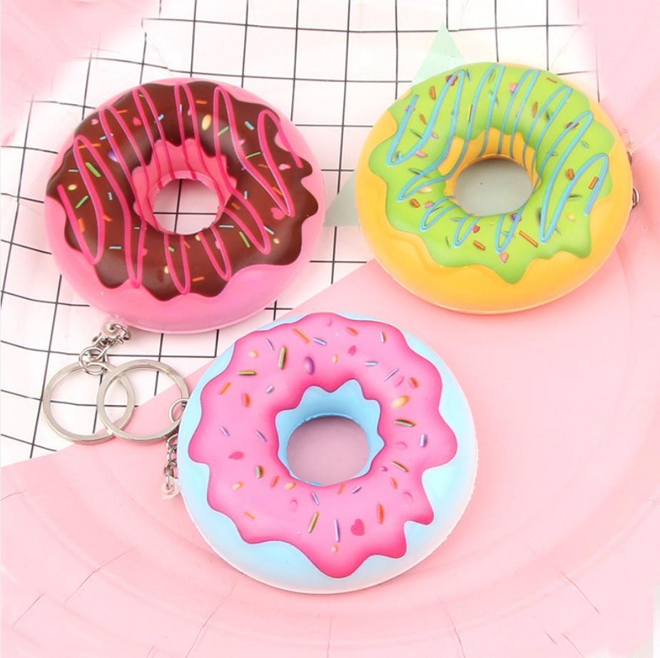 1 pcs Mainan anak Squishy murah slow rising model donut mini dengan gantungan lucu jk9
