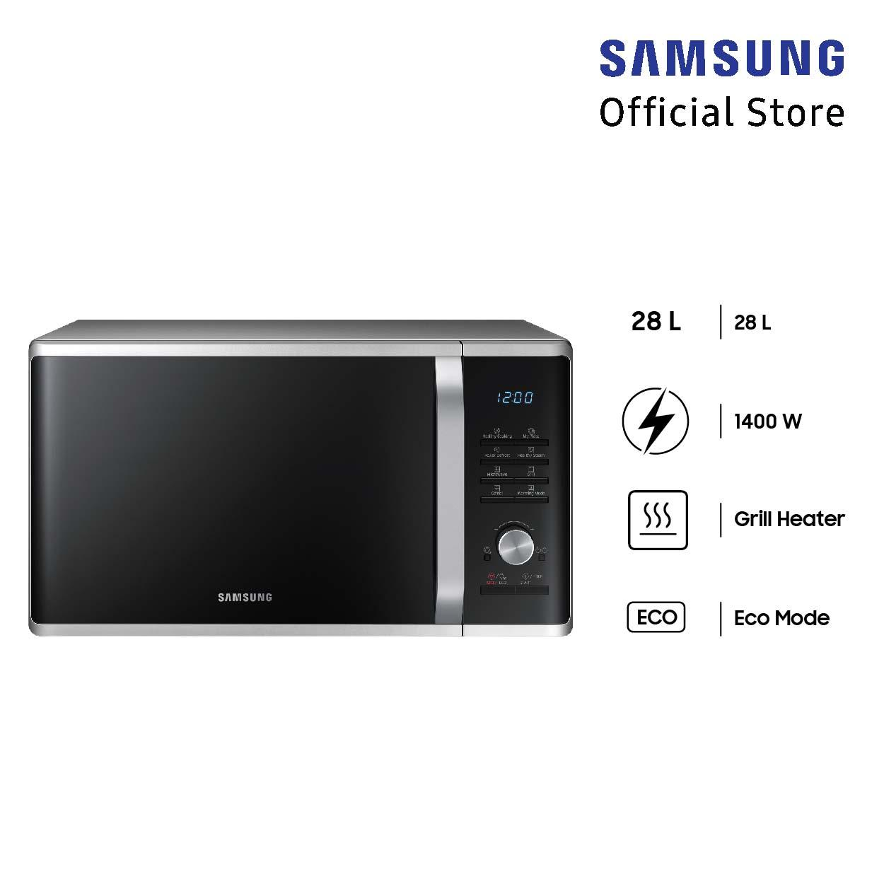 Samsung Microwave Grill, 28l - Mg28j5285us By Lazada Retail Samsung.