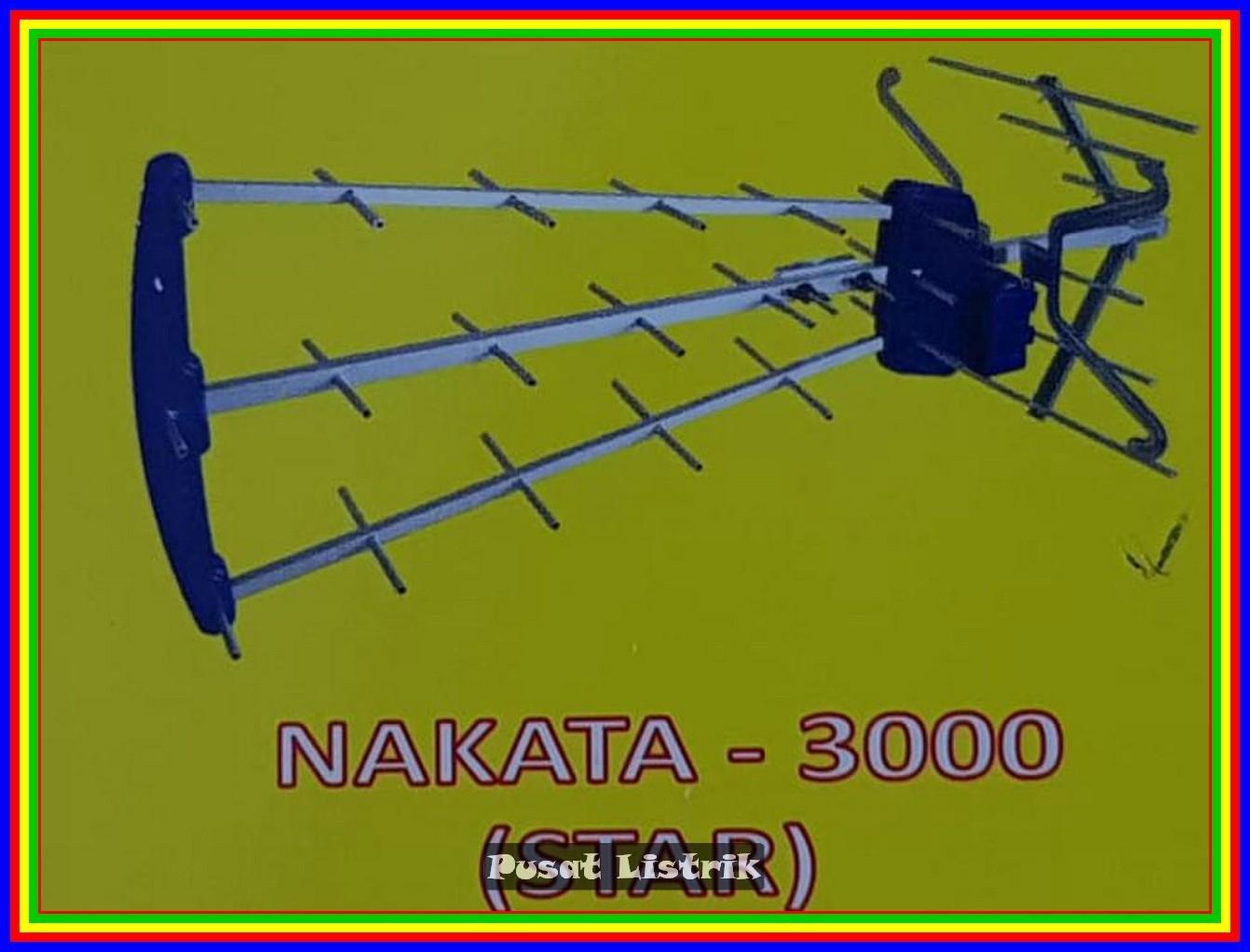 Antena Outdoor 3 Jari Nakata 3000 Cocok TV Tabung Dan TV LED