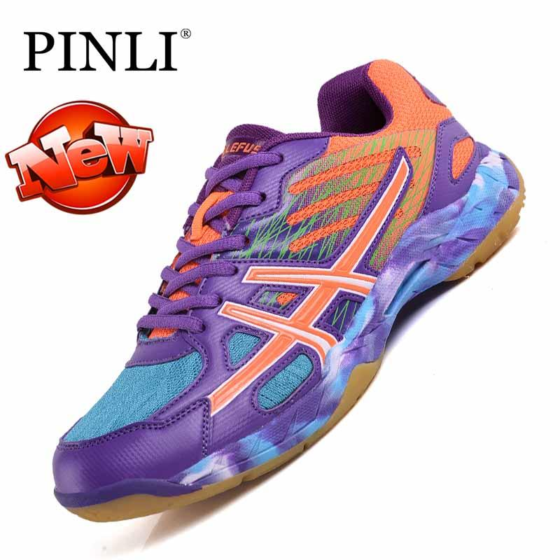 PINLI Wanita Badminton Anti Sneaker Bayi Anti Selip Pelatihan Sepatu  Profesional 31-43 3d4d40f51b