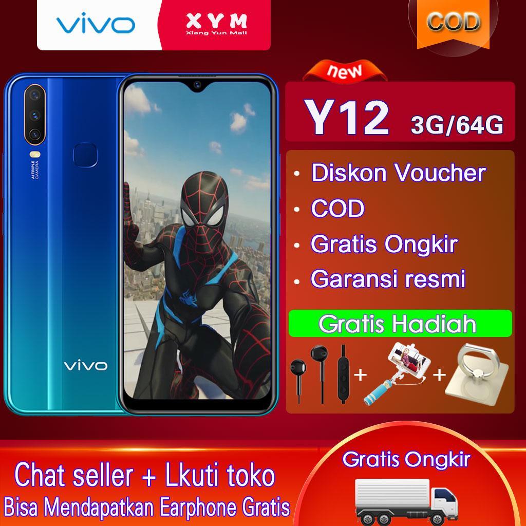 Vivo Y12 hp 3G/64G - COD,Gratis Ongkir,5000mAh Battery,Garansi resmi【 Please use the voucher 】