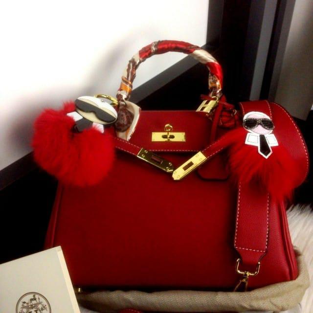 Tas Hermes Kelly Sellier Togo Leather Bag With Karlito 290 Platinum 75ca5c7e8b