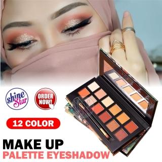 SHINE STAR - PROMO ADS Eyeshadow Lengkap Palette Pallete 1 Set 12 Warna - Images Palet Eyeshadow Waterproof dan Tahan Lama - Eye Shadow Kosmetik Wanita Korea + GRATIS MASKER BIBIR BIOAQUA - 2 Varian thumbnail