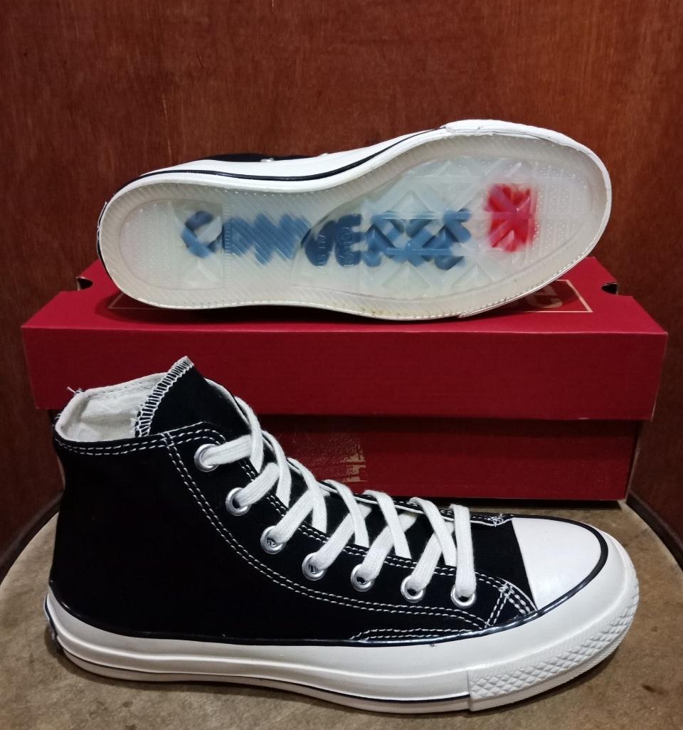 Converse One Star Suede Sepatu Sneakers Pria - Hitam Putih 70s high 82ca6e6d60