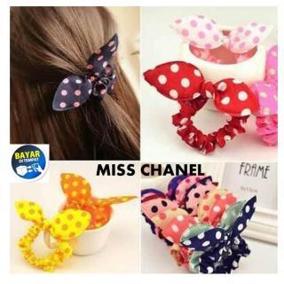 Miss Chanel Buy One Get One Kunciran Rambut Chibi Model Pita Polkadot Ikat Rambut Pita Lucu Aksesoris Rambut Chibi Pita Motif Polkadot - MultiWarna thumbnail