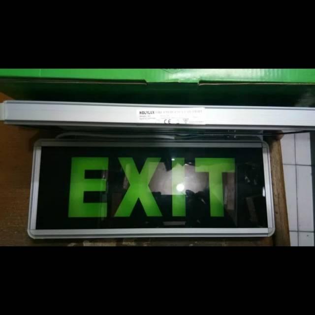 TERLARIS Lampu Darurat / Emergency EXIT LED Tipe Huruf Merk Holylux - HvrELmFS