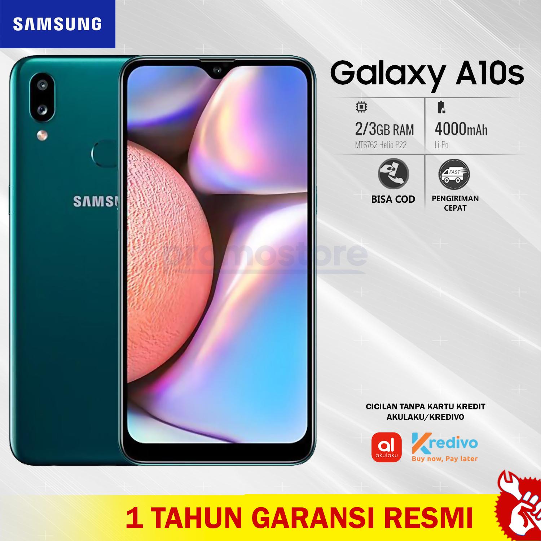 TERLARIS Samsung Galaxy A10S Smartphone [2GB/32GB] GREEN Garansi Resmi SEIN