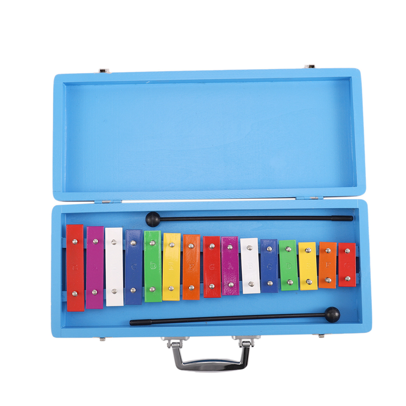 15 Note Xylophone in Hard Protective Case for Baby Kids Orff Early Musical Toy