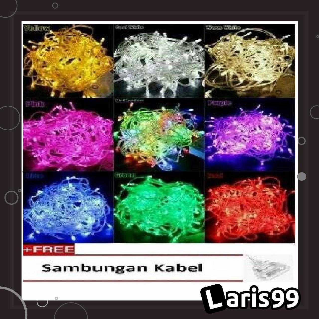 Laris99 Lar Lampu Tumblr 10 Meter / Lampu Led / Lampu Natal / Lampu Dekorasi / Lampu Hias Multicolour By Laris99