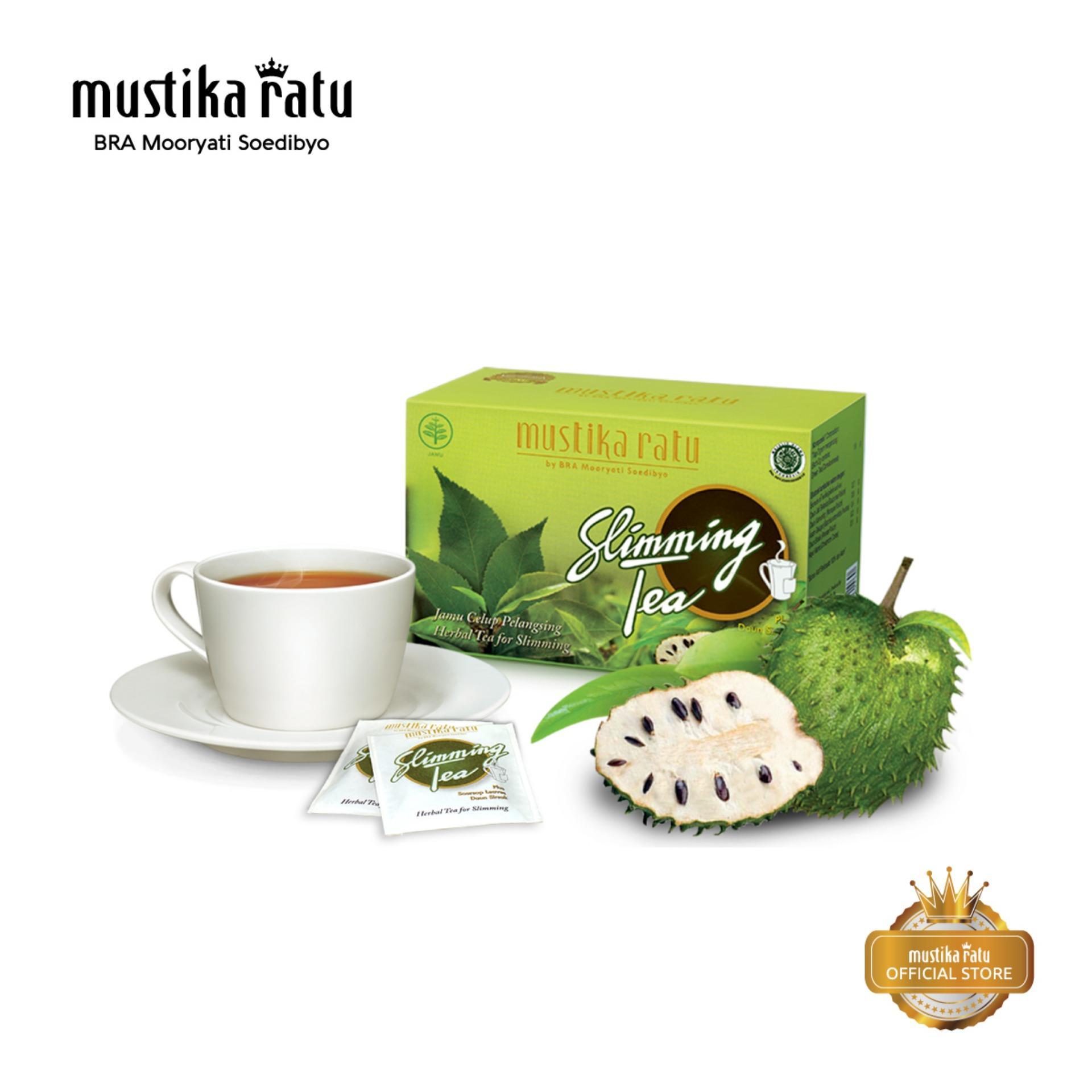 Mustika Ratu Slimming Tea Teh Herbal Pelangsing Badan Bakar Lemak Rasa Buah Sirsak 15 Bags By Mustika Ratu