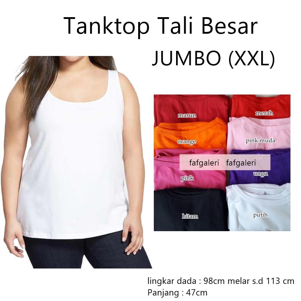 Tank Top Tali Besar Singlet Jumbo - Tanktop Baju Kaos Atasan Wanita Dan Baju  Dalam Dalaman b9dc7abed3