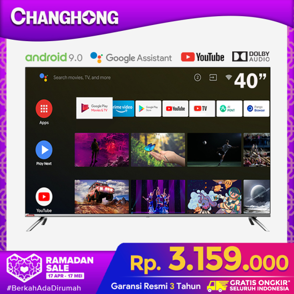 CHANGHONG 40 Inch Netflix Google Certified Android 9.0 (Model : L40H7)