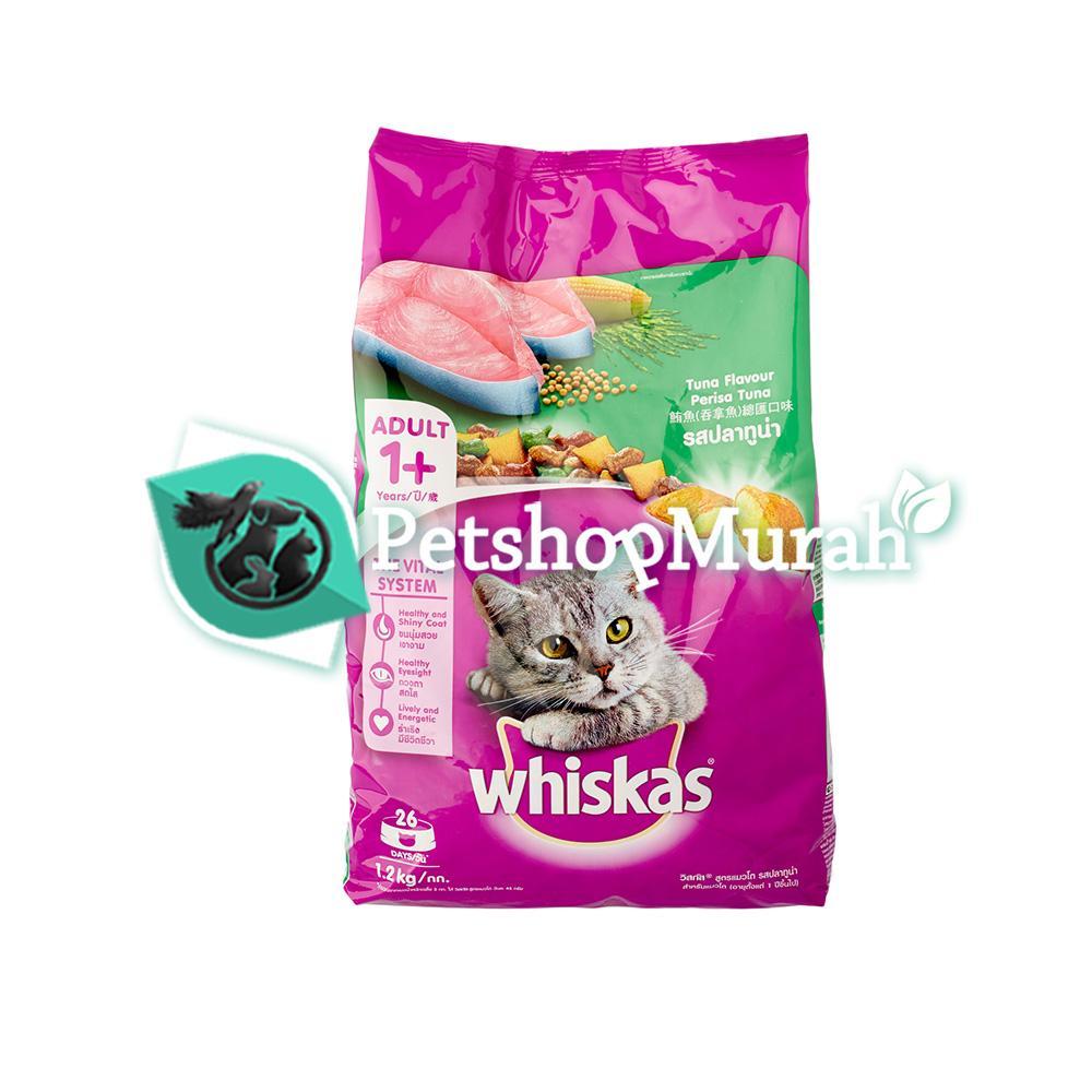Makanan Kucing Whiskas Dry Tuna 1,2 kg / Adult Ikan Tuna 1.2kg